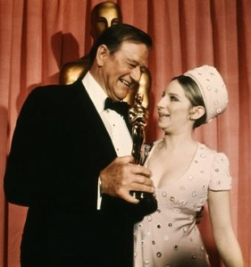 WAYNE: with his Oscar presenter Barbra Streisand