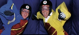 LIFESON & MERCER: indoor skydiving